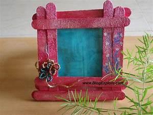 popsicle craft stick photo frame - Blogexplore