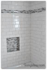 Bathroom Tile Shower Recessed Shelf
