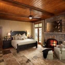 Cottage Style Fireplace by Des Chambres Au D 233 Cor Rustique Pour Bien Dormir La Nuit