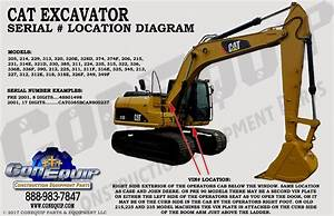 Serial Number Location For Your Cat Excavator