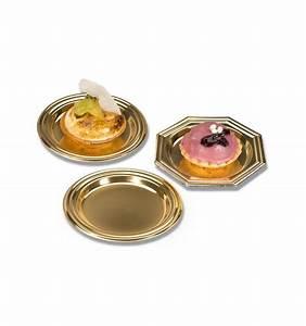 Assiette A Dessert : mini assiette dessert en plastique dor ronde 8cm 1000 ut s ~ Teatrodelosmanantiales.com Idées de Décoration