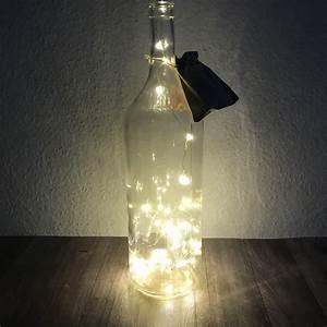Flasche Mit Lichterkette : 40er led draht lichterkette in xxl glas flasche dekoflasche mit batterien ebay ~ Frokenaadalensverden.com Haus und Dekorationen