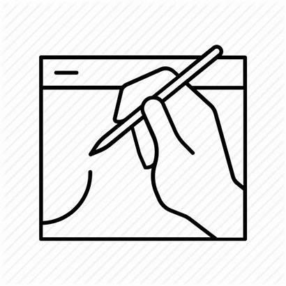 Icon Sketching Digital Web Designing Illustration Drawing