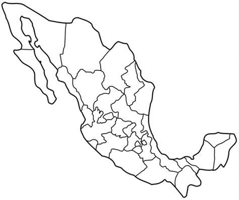 printable map  mexico coloringpagebookcom