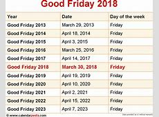 When is Good Friday 2018 & 2019? Dates of Good Friday