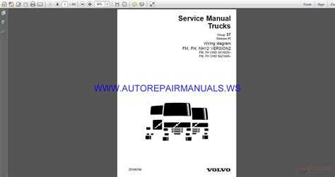 volvo trucks fh wiring diagram wd service manual auto