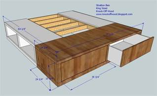 pdf king size platform bed plans with drawers plans free