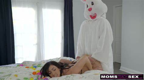 Easter Egg Hunt Fucking Bunny Drilled By Sultry Bff And