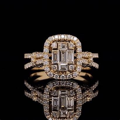 Diamond Eclipse Captured Gemlightbox Smartphone Ring