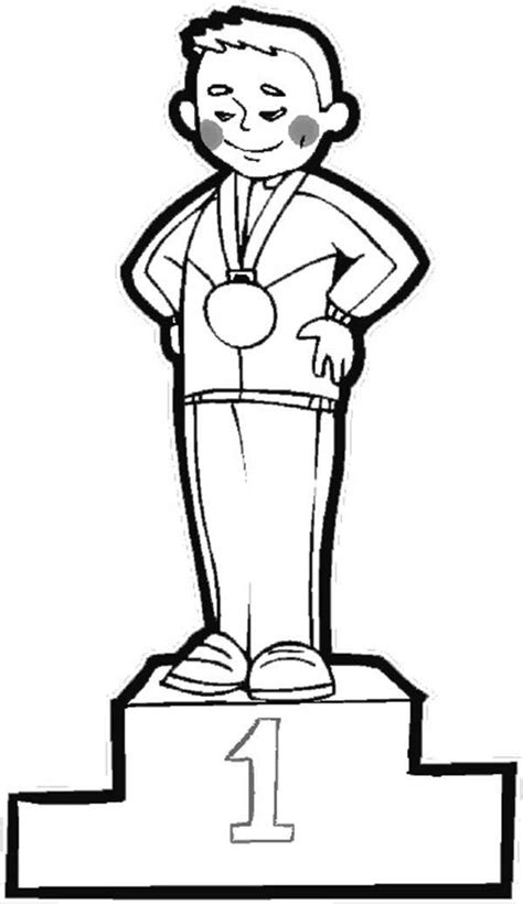 olympic games champion coloring page coloring sky