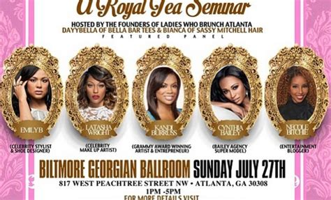 ladies  brunch atlanta presents  royal tea seminar