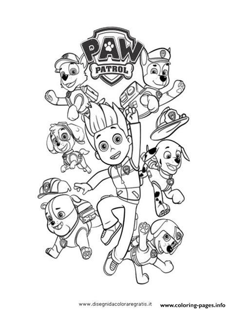paw patrol ryder   dogs coloring pages printable