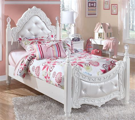 twin ornate poster bed  tufted headboard footboard