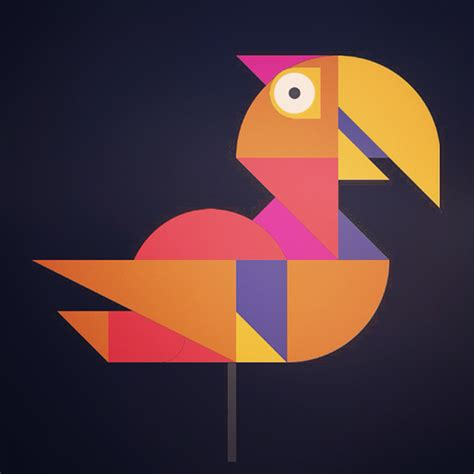 geometric animal set   drawing app  behance