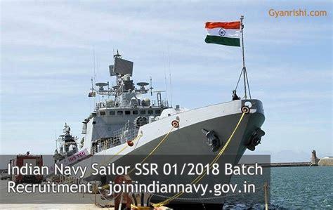 Indian Navy Ssr August 2018 Batch Sailor Recruitment 2017-18