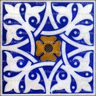 blue and white tile wallpaper peacoquettedesigns