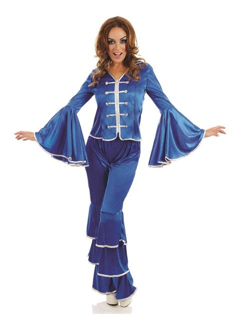 blue abba dancing queen costume   size