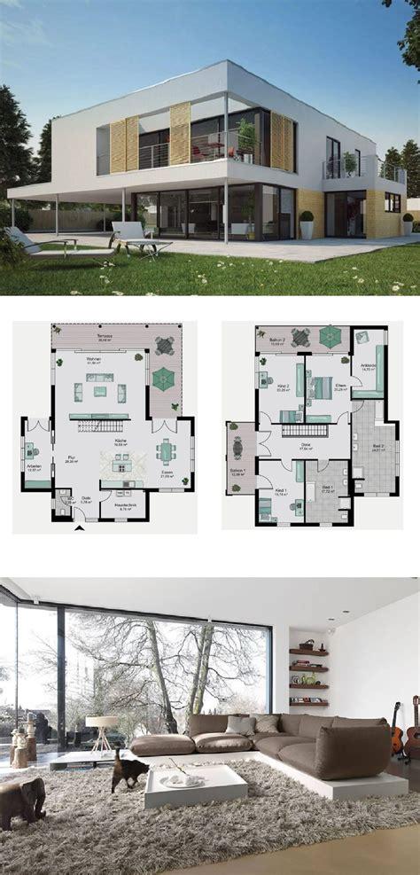 Stadtvilla Moderne Architektur Grundriss by Bauhaus Stadtvilla Design Modern Mit Flachdach Architektur