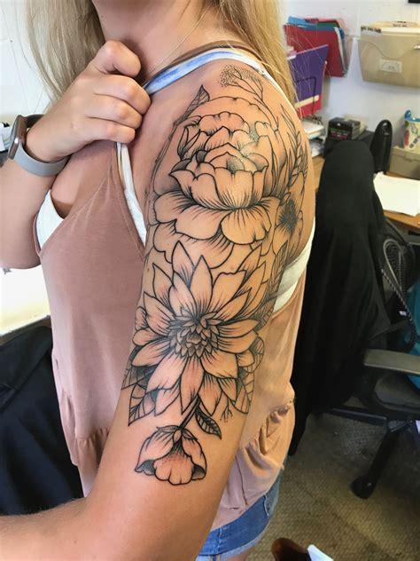 floral  sleeve tattoo tattoos piercings