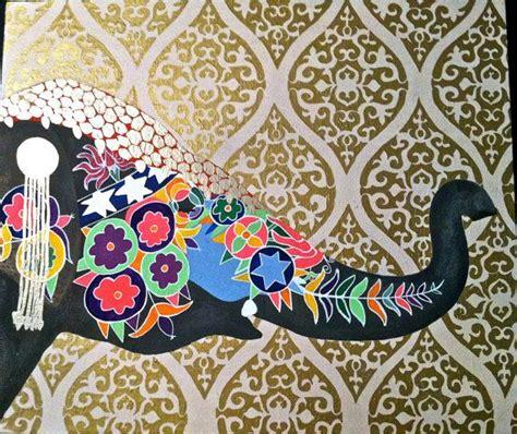 moroccanbohemianindian decorative elephant  gold