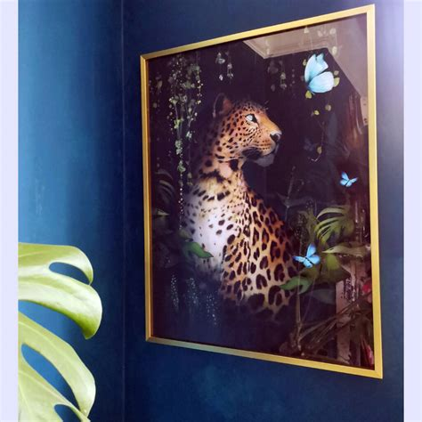 Large Framed Leopard Art Print By Posh Totty Designs ...
