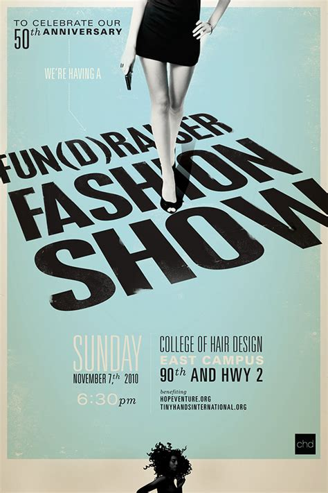 college of hair design fashion show poster for college of hair design on behance