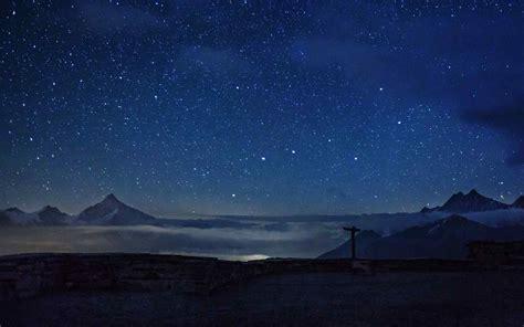 瑞士唯美星空风景壁纸图片桌面 -桌面天下(Desktx.com)
