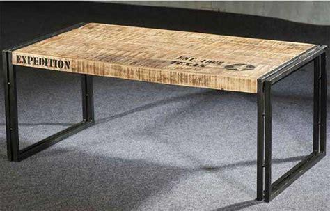 table cuisine style industriel table basse longue style industriel