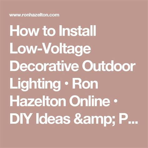 1000 ideas about low voltage outdoor lighting on