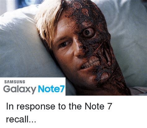 Galaxy Note Meme - samsung galaxy note7 in response to the note 7 recall funny meme on sizzle