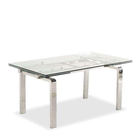 table cuisine en verre table design en verre extensible tanina 4 pieds tables