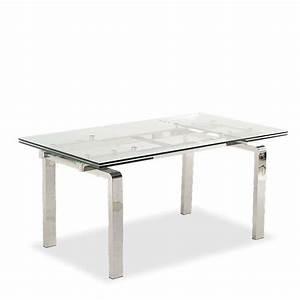 Table Design En Verre Extensible Tanina 4 Pieds Tables