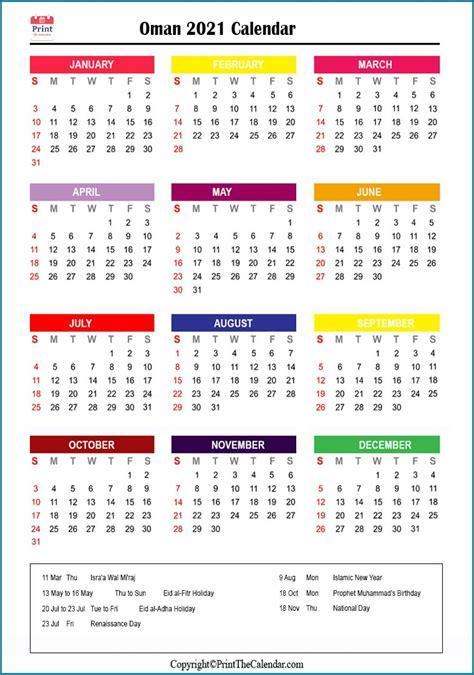 oman holidays   calendar  oman holidays