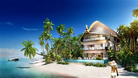 Luxury Villa On Swedish Island by Dubai The World Islands Are Slowly Coming Back To