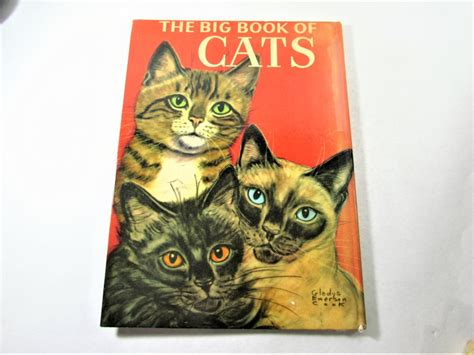 big book  cats  gladys emerson cook vintage