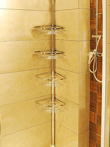 leapair tension shower caddy  tier adjustable bathroom