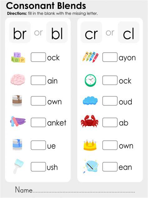 consonant blends practice bundle spr 229 k och inspiration