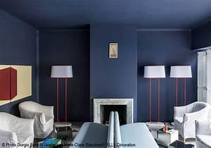 Salon Gris Bleu : osons la couleur dans le salon elle d coration ~ Melissatoandfro.com Idées de Décoration