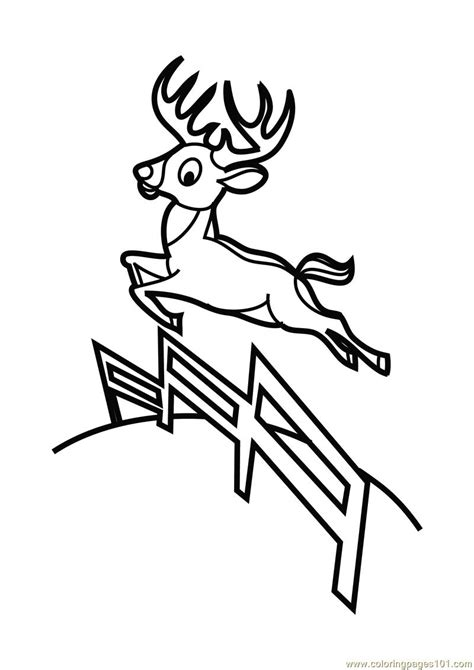 deer jumping coloring page  deer coloring pages coloringpagescom
