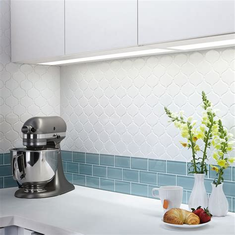american olean glass tile backsplash shop american olean vaughn gloss white glazed porcelain