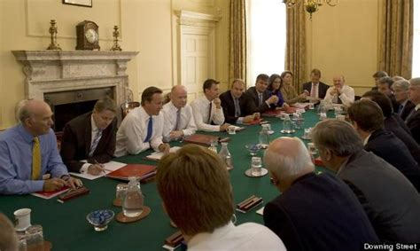 The Government Cabinet - budge up new ministers squeeze around cabinet table picture