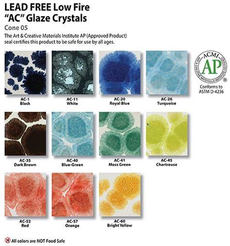 Duncan Ceramic Glazes Color Chart