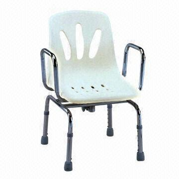 swivel shower chair with back and armrest made of