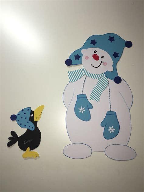 Fensterdeko Weihnachten Basteln Mit Kindern by Fensterbild Tonkarton Schneemann Pinguin Weihnachten