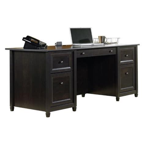 sauder edge water desk estate black sauder edge water executive desk estate black jet