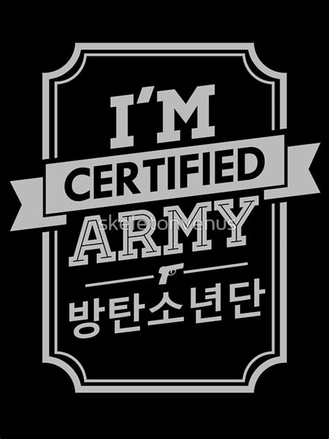quot certified bts army quot photographic prints by skeletonvenus redbubble