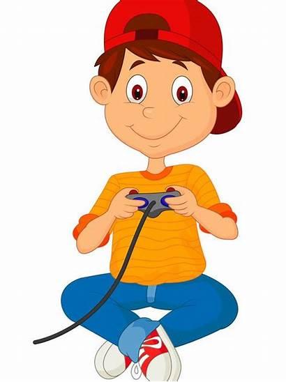 Cartoon Games Playing Clipart Boy Clip Minecraft