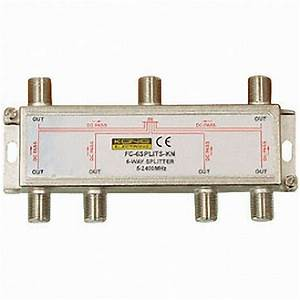 6 Way Splitter Tv Aerial Cable Well Screened Construction
