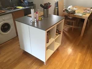 un nouvel ilot central cuisine avec kallax With meuble ilot central cuisine 1 petit ilot central de cuisine cuisine en image