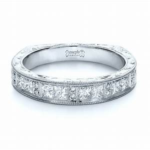 custom princess cut diamond women39s wedding band 1134 With princess cut wedding rings for women